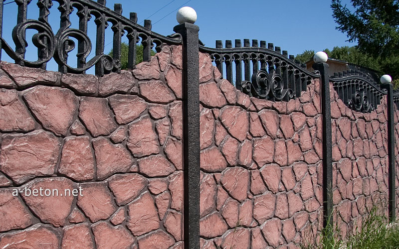 купить в красноярске забор из бетона